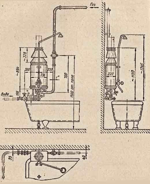 Установка газовой колонки в